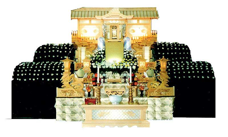 白木祭壇3号生花つき