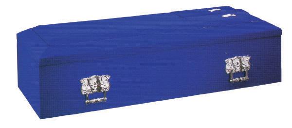 特上ビロード棺ブルー